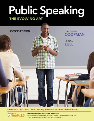 Public Speaking The Evolving Art 2nd 2013 edition cover