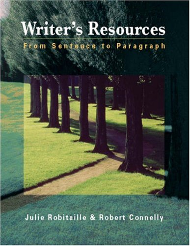 Writer's Resources From Sentence to Paragraph  2004 edition cover