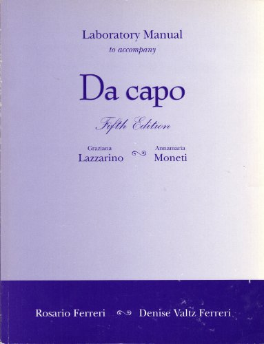Da Capo  5th 2003 (Lab Manual) 9780030341878 Front Cover