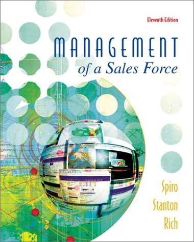 Management of a Sales Force  11th 2003 (Revised) edition cover