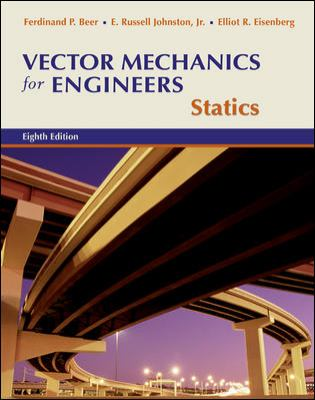 Vector Mechanics for Engineers Statics 8th 2006 edition cover