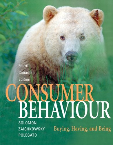 CONSUMER BEHAVIOUR >CANADIAN E N/A 9780132072878 Front Cover