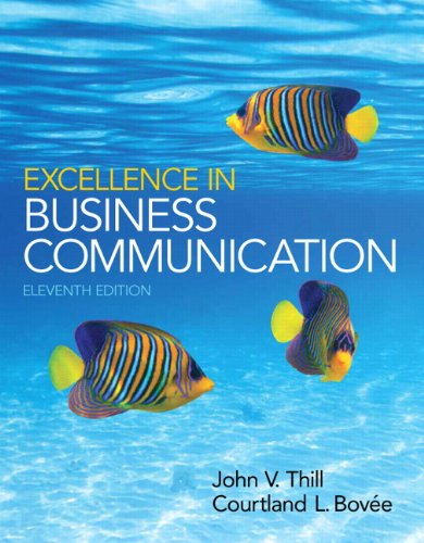 Excellence in Business Communication Plus 2014 MyBCommLab with Pearson EText -- Access Card Package  11th 2015 edition cover