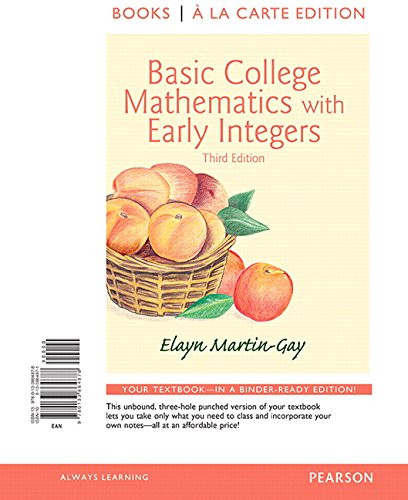 Basic College Mathematics With Early Integers: Books a La Carte Edition  2015 edition cover
