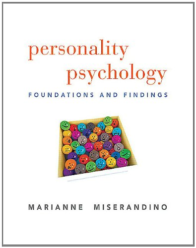 Personality Psychology Foundations and Findings  2012 (Revised) edition cover