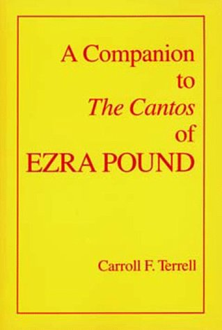 Companion to the Cantos of Ezra Pound   1993 edition cover