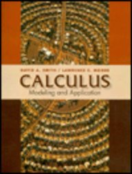 Calculus : Modeling and Application 1st edition cover