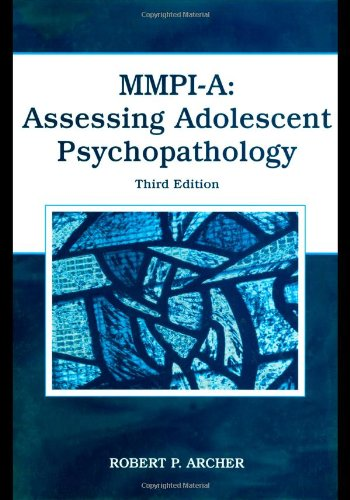 MMPI-A Assessing Adolescent Psychopathology 3rd 2017 (Revised) 9780805851878 Front Cover