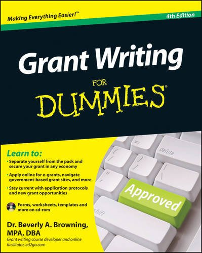 Grant Writing for Dummies  4th 2011 edition cover