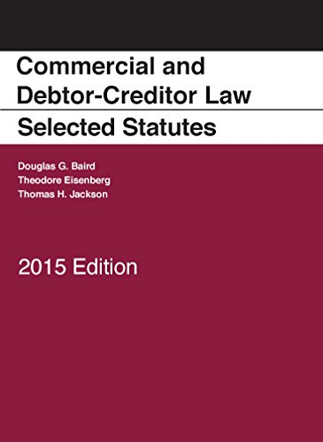Commercial and Debtor-creditor Law Selected Statutes:   2015 edition cover