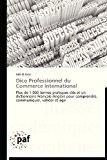 Dico Professionnel du Commerce International  N/A 9783838177878 Front Cover