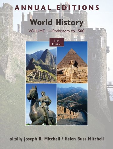 Annual Editions: World History, Volume 1: Prehistory To 1500  11th 2012 edition cover