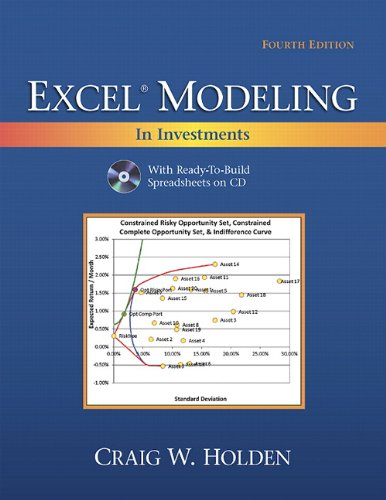 Excel Modeling in Investments  4th 2012 (Revised) 9780132497879 Front Cover