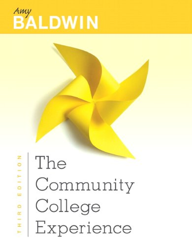 Community College Experience  3rd 2013 (Revised) edition cover