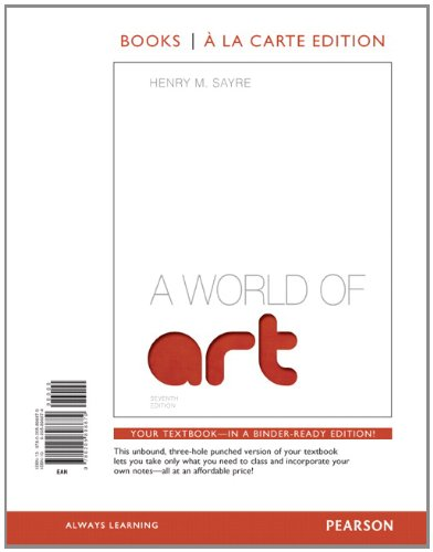 World of Art, Books a la Carte Edition  7th 2013 edition cover
