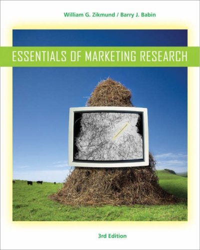 Essentials of Marketing Research  3rd 2007 edition cover
