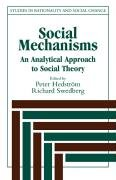 Social Mechanisms An Analytical Approach to Social Theory  1998 9780521596879 Front Cover