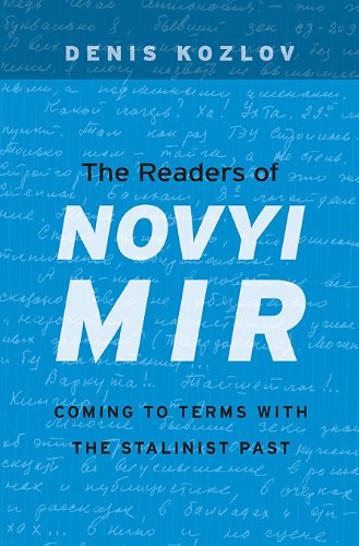 Readers of Novyi Mir Coming to Terms with the Stalinist Past  2013 edition cover