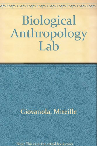 Workbook Biological Anthropology Lab Revised  9780757571879 Front Cover