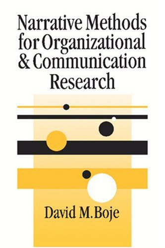 Narrative Methods for Organizational and Communication Research   2001 9780761965879 Front Cover