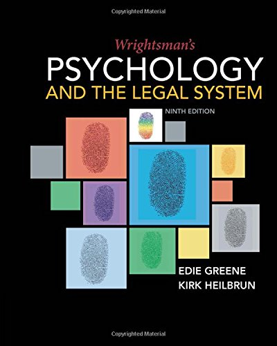 Wrightsman's Psychology and the Legal System:   2018 9781337570879 Front Cover