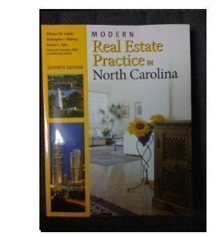 Modern Real Estate Practice in North Carolina  7th 2009 9781427785879 Front Cover