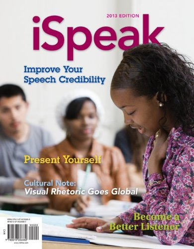 ISpeak: Public Speaking for Contemporary Life  5th 2014 edition cover
