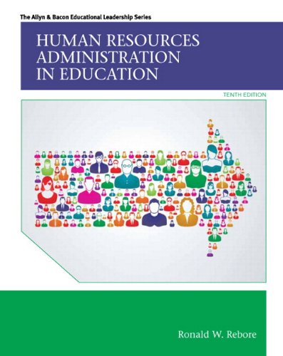 Human Resources Administration in Education  10th 2015 edition cover