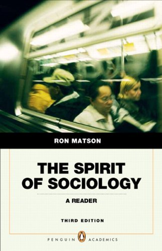 Spirit of Sociology  3rd 2011 9780205762880 Front Cover