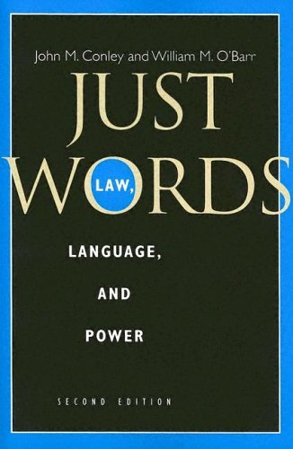 Just Words Law, Language, and Power 2nd 2005 edition cover