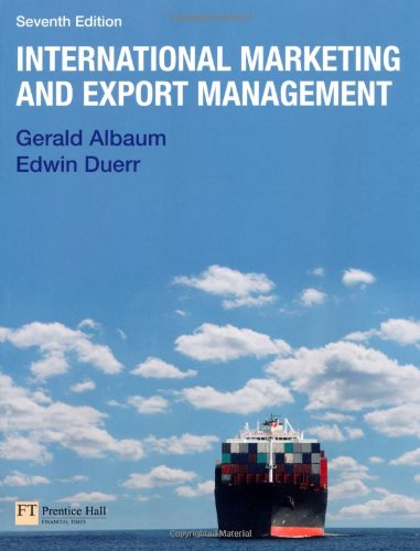 International Marketing and Export Management  7th 2011 (Revised) edition cover