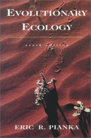 Evolutionary Ecology  6th 2000 edition cover