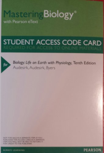 MasteringBiology with Pearson Etext -- Valuepack Access Card -- for Biology: Life on Earth with Physiology (ME Component)  2014 edition cover