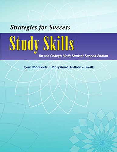 Strategies for Success Study Skills for the College Math Student 2nd 2014 edition cover