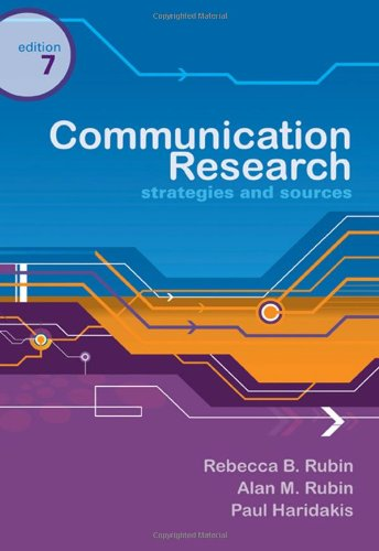 Communication Research Strategies and Sources 7th 2010 edition cover