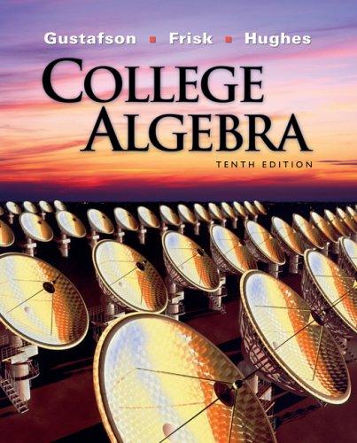 College Algebra  10th 2010 edition cover