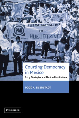 Courting Democracy in Mexico Party Strategies and Electoral Institutions  2007 9780521035880 Front Cover