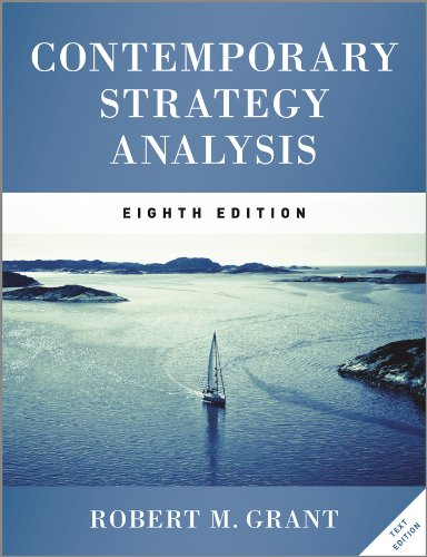 Contemporary Strategy Analysis Text Only  8th 2013 9781119941880 Front Cover