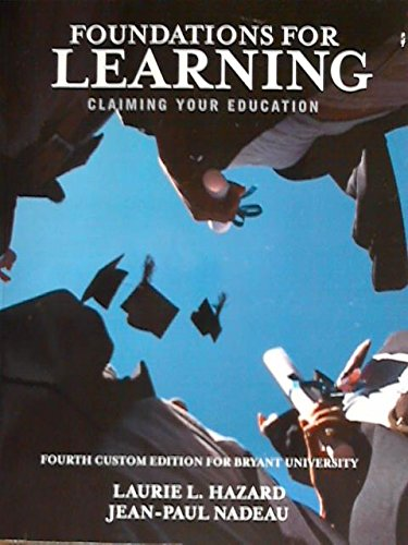 FOUNDATIONS FOR LEARNING       N/A edition cover