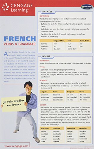French Grammar Chart   2008 9781554311880 Front Cover
