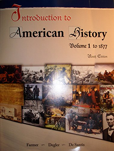 INTRO.TO AMERICAN HISTORY,VOL.I         N/A edition cover