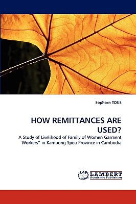 How Remittances Are Used? N/A 9783838383880 Front Cover