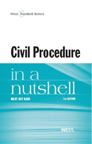 Civil Procedure in a Nutshell:   2013 edition cover