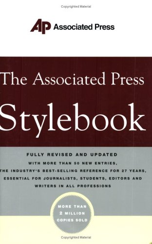 Associated Press Stylebook   2004 (Revised) edition cover