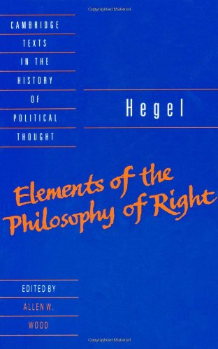 Elements of the Philosophy of Right   1991 edition cover