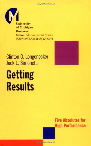 Getting Results Five Absolutes for High Performance  2001 edition cover