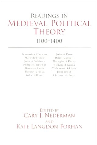 Readings in Medieval Political Theory, 1100-1400   2000 (Reprint) edition cover