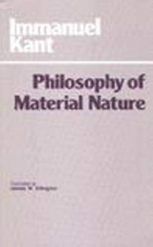 Philosophy of Material Nature Metaphysical Foundations of Natural Science and Prolegomena  1985 edition cover