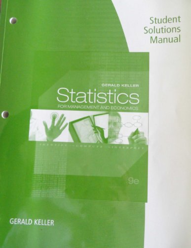 STATISTICS F/MGMT.+ECON.-STUD. N/A edition cover
