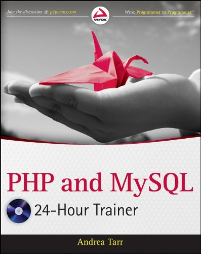 PHP and MySQL 24-Hour Trainer   2012 edition cover